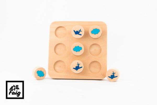 Puzzle 3 en raya-aviones